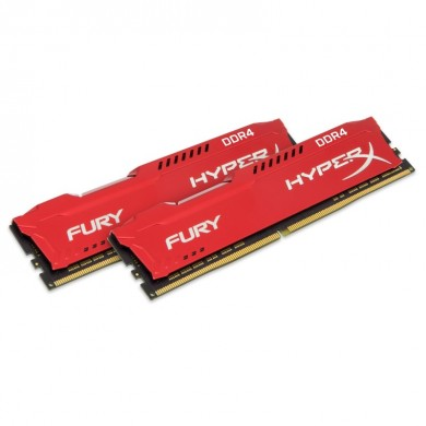 HyperX - Fury DDR4 2400MHz Kit 16Go rouge 16Gb DDR4 2400MHz Module mémoire